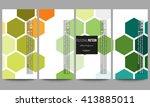 set of modern vector flyers.... | Shutterstock .eps vector #413885011