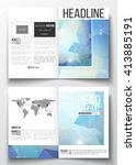 set of business templates for... | Shutterstock .eps vector #413885191