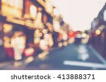 abstract blurred  street in the ... | Shutterstock . vector #413888371