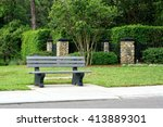 View Of Park Bench   Bus Stop...