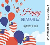malaysia independence day...   Shutterstock .eps vector #413890675