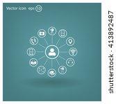 technology web icons set | Shutterstock .eps vector #413892487