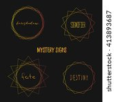 mystery signs. set of vector ...   Shutterstock .eps vector #413893687