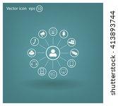 technology web icons set | Shutterstock .eps vector #413893744