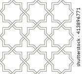 seamless symmetrical abstract... | Shutterstock .eps vector #413896771