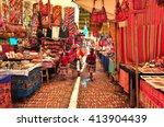 peruvian family walking in... | Shutterstock . vector #413904439