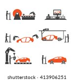 icon car production line | Shutterstock .eps vector #413906251