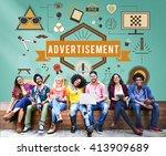 advertisement advertising...   Shutterstock . vector #413909689