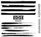grunge edges set   isolated... | Shutterstock .eps vector #413914489