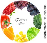 fruits and vegetables. food... | Shutterstock . vector #413920501
