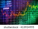 stock market or forex trading... | Shutterstock . vector #413924995