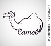 camel logo vector | Shutterstock .eps vector #413936347