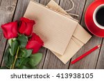 Love Letter Notepad  Red Roses...
