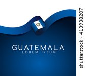 guatemala flag ribbon   vector... | Shutterstock .eps vector #413938207
