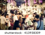 festival event with blurred... | Shutterstock . vector #413938309