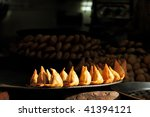 Small photo of Indian Colorfully Huckster's Stands, India snack