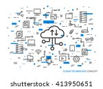 web cloud storage vector... | Shutterstock .eps vector #413950651