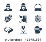 vr or virtual reality ... | Shutterstock .eps vector #413951599