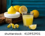 lemon juice | Shutterstock . vector #413952931