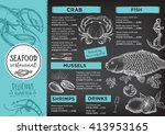 seafood restaurant brochure ...