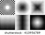 pop art black decorative... | Shutterstock .eps vector #413956789