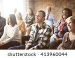 corporate seminar conference... | Shutterstock . vector #413960044
