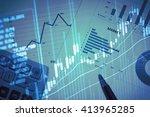 stock market information and...   Shutterstock . vector #413965285