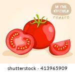 tomato   vegetable isolated set ... | Shutterstock .eps vector #413965909