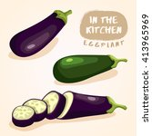 eggplant   vegetable isolated... | Shutterstock .eps vector #413965969