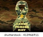 armed forces day camouflage... | Shutterstock .eps vector #413966911