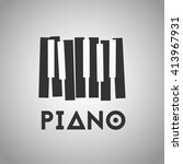 Piano Picture With Gray Piano...