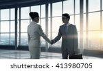 business partners handshake | Shutterstock . vector #413980705