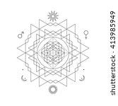 mystical geometry symbol.... | Shutterstock .eps vector #413985949