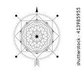 mystical geometry symbol.... | Shutterstock .eps vector #413985955