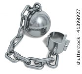 silvery prisoner shackle... | Shutterstock . vector #41398927