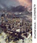 Fantasy Stone Castle In The...