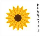 stock icon. sunflower flat icon.... | Shutterstock . vector #413996977