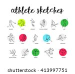 Hand Drawn Vector Sport Athlet...
