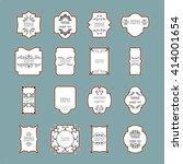 vintage frame set. calligraphic ...   Shutterstock .eps vector #414001654