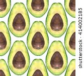 avocado pattern seamless... | Shutterstock . vector #414002185