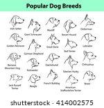 popular dog breeds profile...   Shutterstock .eps vector #414002575