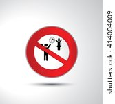 no ball games prohibition sign...   Shutterstock .eps vector #414004009