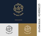 line graphics monogram. logo... | Shutterstock .eps vector #414006115