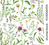 hand drawn watercolor seamless... | Shutterstock . vector #414006454