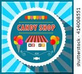 candy shop. retro vector candy... | Shutterstock .eps vector #414008551