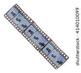 freehand retro cartoon film... | Shutterstock .eps vector #414010099