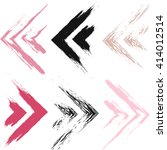 cute vector geometric seamless... | Shutterstock .eps vector #414012514