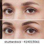 permanent makeup eyebrow | Shutterstock . vector #414015061