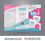 booklet template. sale event.... | Shutterstock .eps vector #414024145