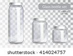 empty glass jars of different...   Shutterstock .eps vector #414024757